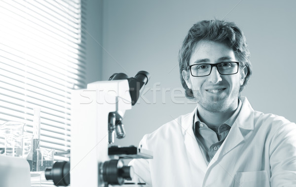Young researcher in the laboratory Stock photo © stokkete