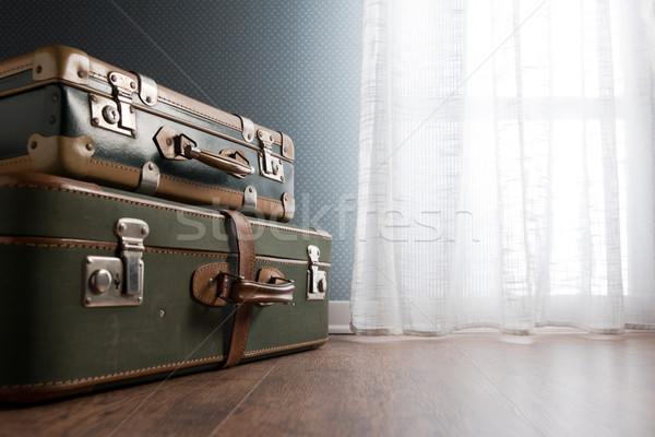 Stock photo: Room interior with suitcases and window