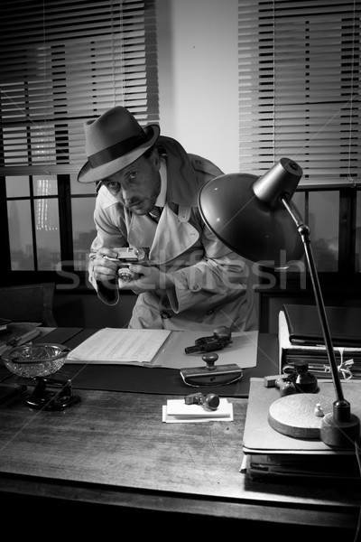 Spy agent caught stealing informations Stock photo © stokkete