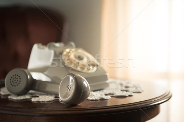 Handset on hold Stock photo © stokkete