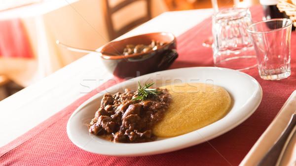 Gustoso pranzo ristorante italiano italiana ristorante cervo Foto d'archivio © stokkete
