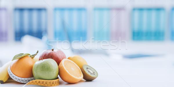 Nutrição dieta fresco saudável frutas fita métrica Foto stock © stokkete