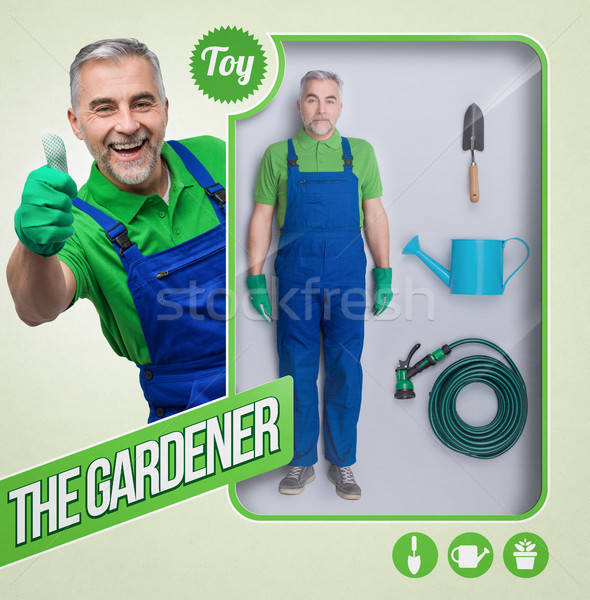 The gardener lifelike doll Stock photo © stokkete