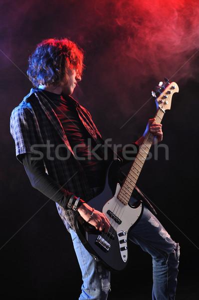 Yaşamak konser erkekler kaya eğlence ses Stok fotoğraf © stokkete