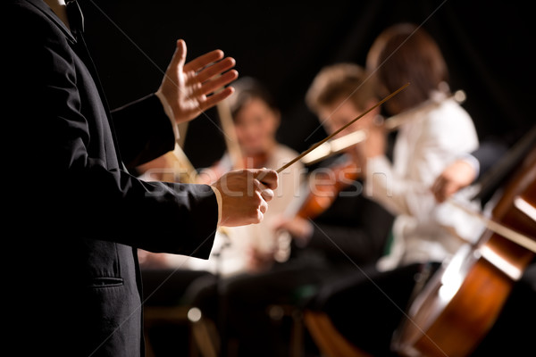 Photo stock: Orchestre · stade · symphonie · mains