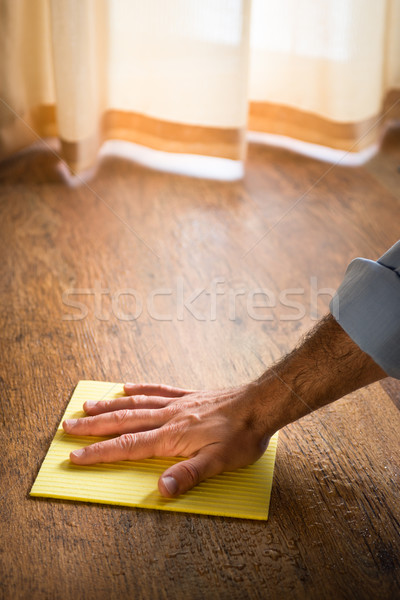Hardwood floor manteinance Stock photo © stokkete
