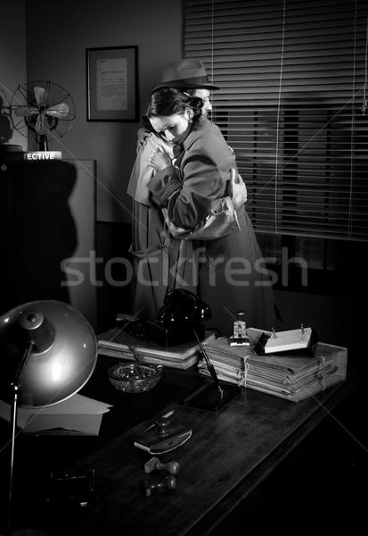 Hombre oficina detective película Foto stock © stokkete