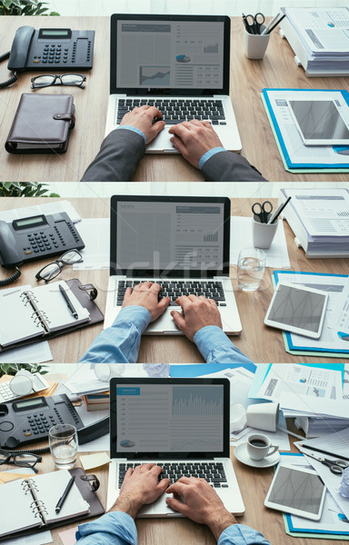 Produktivitás határidők szett üzlet munkaterület tiszta Stock fotó © stokkete