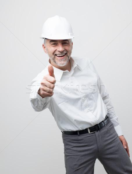 Cheerful professional engineer Stock photo © stokkete