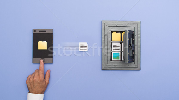 Data security and files protection Stock photo © stokkete