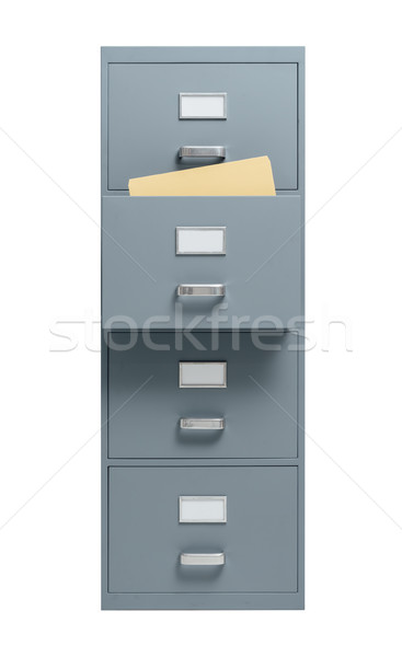 Photo stock: Placard · ouvrir · tiroir · blanche · stockage · administration