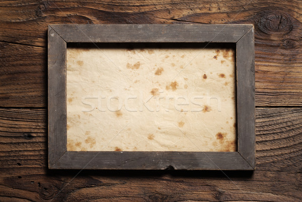 old wooden frame Stock photo © stokkete