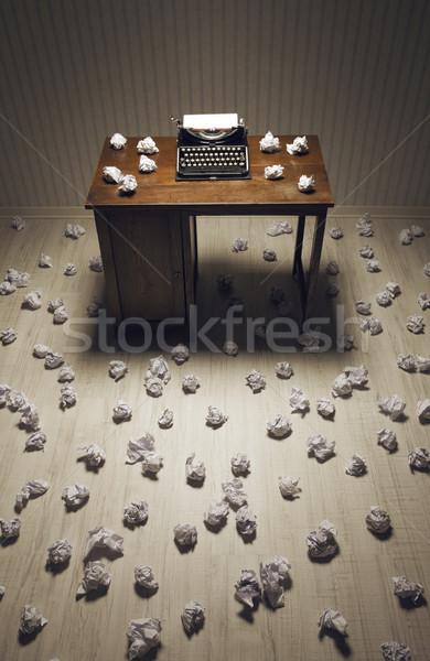 öreg írógép iroda újságíró író Stock fotó © stokkete