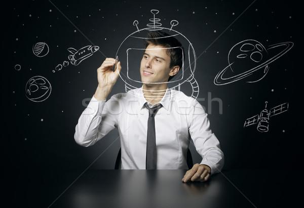 Spaceman Stock photo © stokkete
