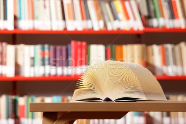 Libro abierto biblioteca libro Universidad abierto plataforma Foto stock © stokkete