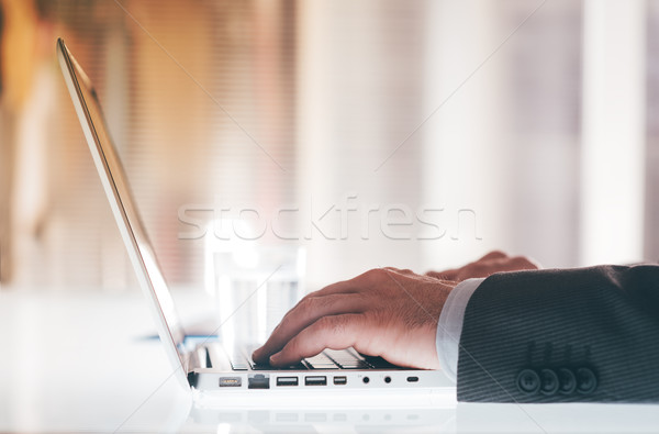 Businessman at work Stock photo © stokkete