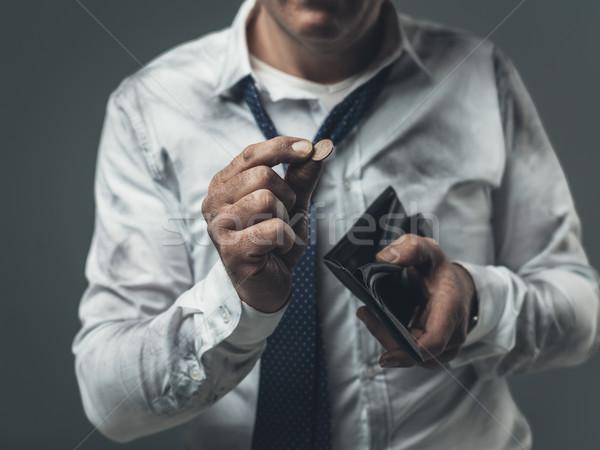 állásnélküli üzletember üres pénztárca rendetlen vállalati Stock fotó © stokkete