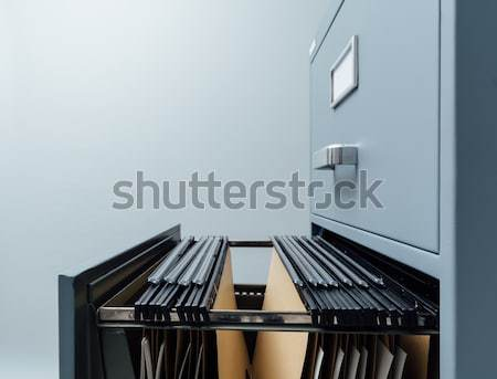 Filing cabinet and files Stock photo © stokkete