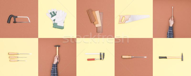 Carpenteria fai da te strumenti falegname martello Foto d'archivio © stokkete