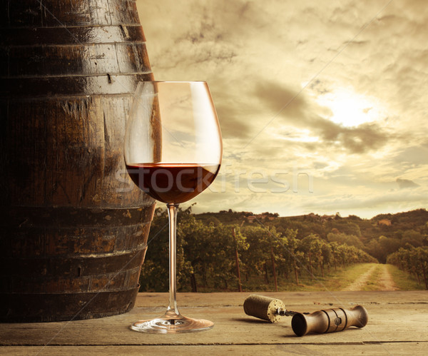 Red wine glass Stock photo © stokkete