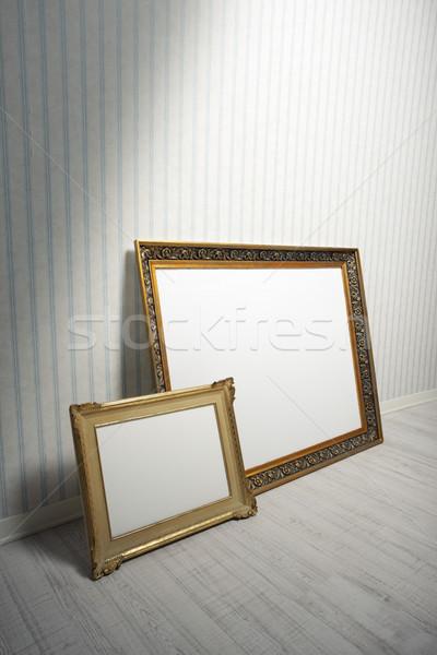 Barroco quadros dois quarto vazio casa quadro Foto stock © stokkete