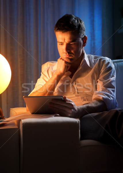 Night work at home Stock photo © stokkete
