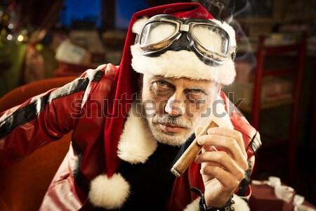 Mal fumar fiesta retrato cigarrillo Foto stock © stokkete