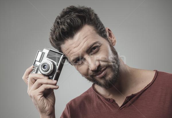 Hombre sonriendo joven edad Foto stock © stokkete