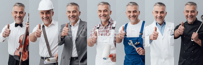 Professional workers collage Stock photo © stokkete