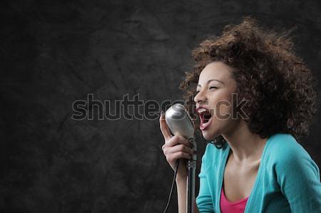 Female singer Stock photo © stokkete