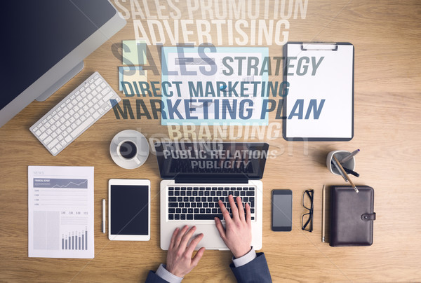 Marketing and business concepts Stock photo © stokkete