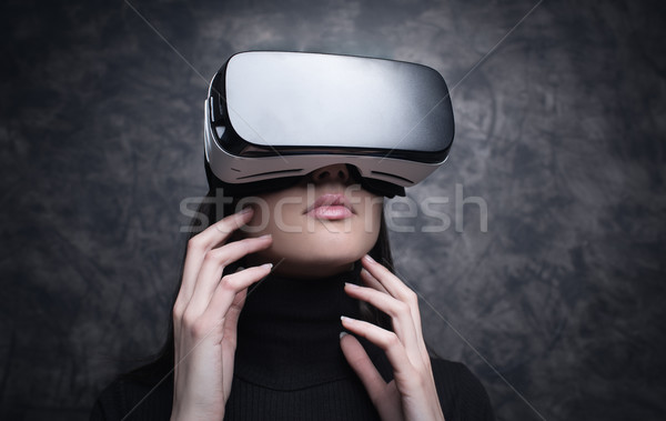 Experiencing virtual reality Stock photo © stokkete