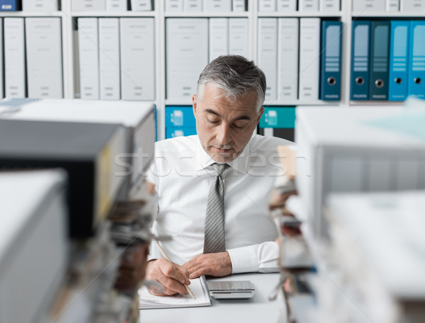 Manager overloaded with work Stock photo © stokkete
