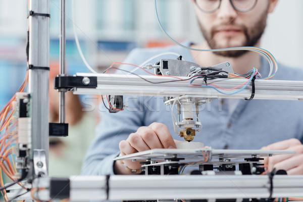 Engenharia 3D impressão estudante impressora lab Foto stock © stokkete
