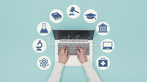 E-learning and education icons Stock photo © stokkete