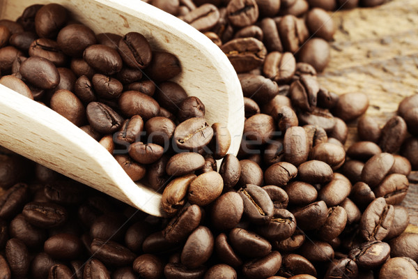 Coffee beans close up Stock photo © stokkete