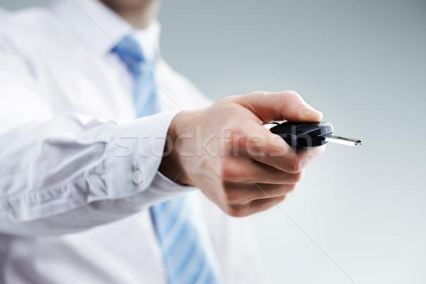 準備 手 ロック解除 車のキー 車 手 ストックフォト © stokkete