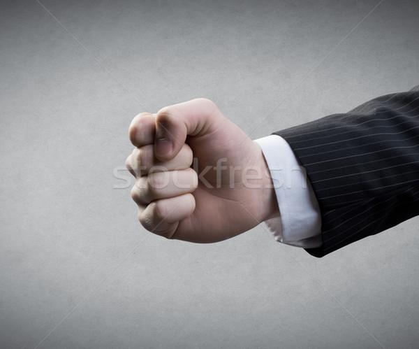 кулаком серый человека деловой человек деловые люди Сток-фото © stokkete
