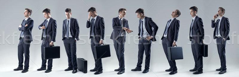 Businessman set of poses Stock photo © stokkete