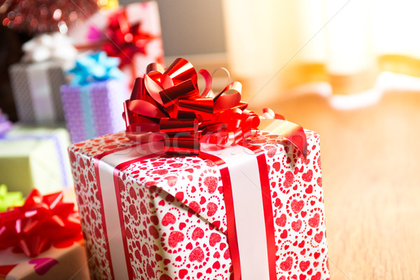 Colorful gift box close-up Stock photo © stokkete