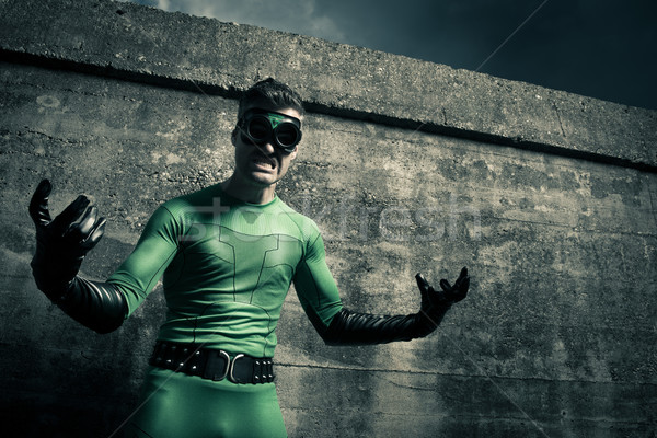 Aggressive superhero close-up Stock photo © stokkete