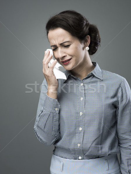 1950s desperate woman crying Stock photo © stokkete