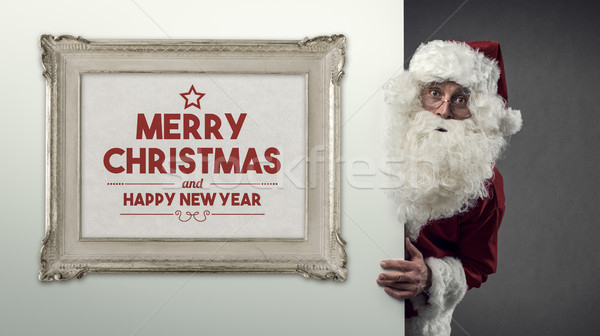 Santa Claus and Christmas wishes Stock photo © stokkete