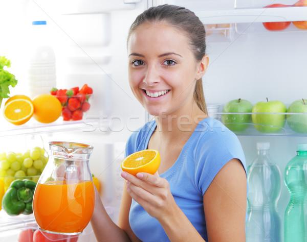 orange juice Stock photo © stokkete