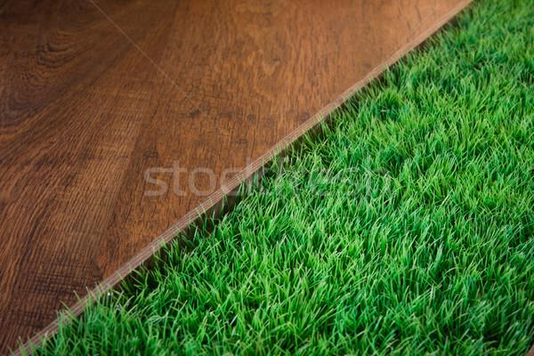 Bent kertészkedés zöld buja műfű sötét Stock fotó © stokkete