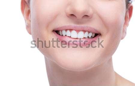 Soins dentaires belle jeune femme souriant parfait Photo stock © stokkete