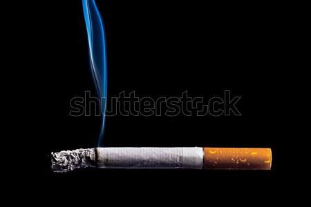 Stop dohányzás cigaretta égő sötét fekete Stock fotó © stokkete