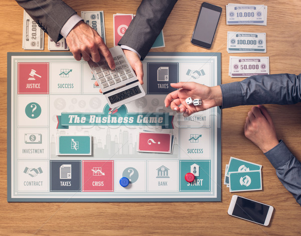 The business game Stock photo © stokkete