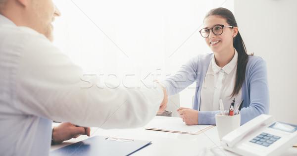Successful job interview Stock photo © stokkete