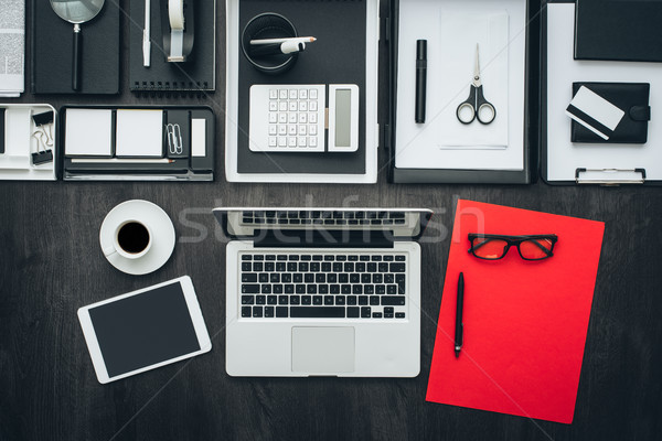 Corporate business kantoor desktop laptop tablet Stockfoto © stokkete
